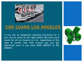 Auto Loan Los Angeles