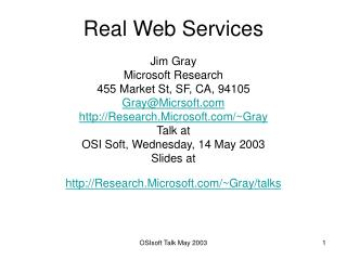 Real Web Services