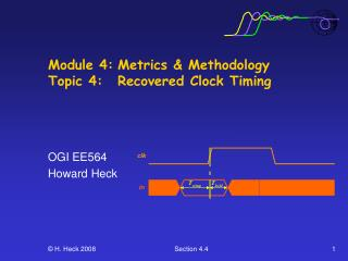 Module 4:	Metrics & Methodology Topic 4: 	Recovered Clock Timing