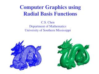 Computer Graphics using Radial Basis Functions