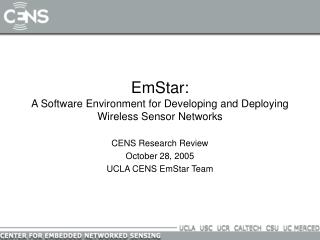 EmStar: A Software Environment for Developing and Deploying Wireless Sensor Networks