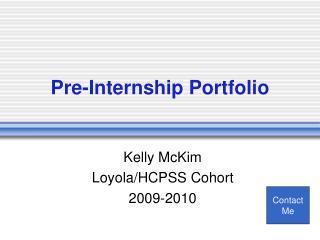 Pre-Internship Portfolio