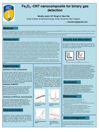 Fe 2 O 3  -CNT nanocomposite for binary gas detection