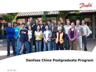 Danfoss China Postgraduate Program