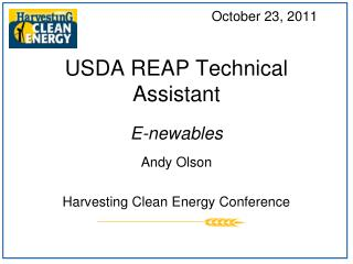 USDA REAP Technical Assistant