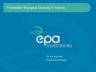 Freshwater Biological Diversity in Ireland
