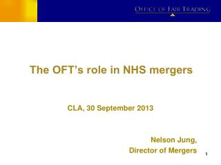 The OFT's role in NHS mergers