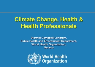 Public Health  The Changing Climate