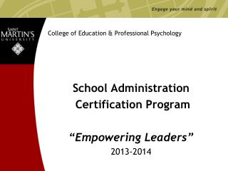 College of Education & Professional Psychology