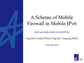 A Scheme of Mobile Firewall in Mobile IPv6