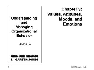 Chapter 3: Values, Attitudes, Moods, and Emotions