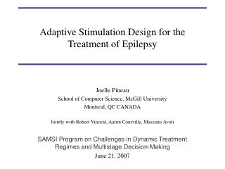 Adaptive Stimulation Design for the Treatment of Epilepsy