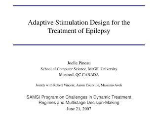 Adaptive Stimulation Design for the Treatment of Epilepsy