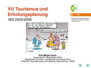 VU Tourismus und Erholungsplanung