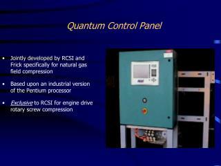 Quantum Control Panel