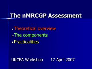 The nMRCGP Assessment