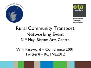 Rural Community Transport Networking Event