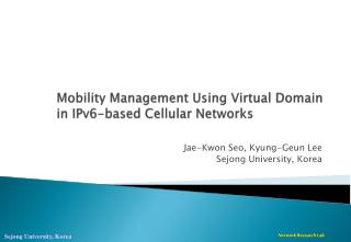 Mobility Management Using Virtual Domain in IPv6-based  C ellular Networks