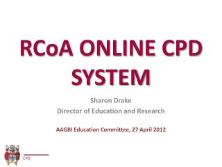RCoA ONLINE CPD SYSTEM