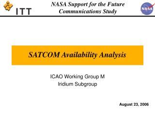 SATCOM Availability Analysis