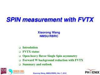 SPIN measurement with FVTX