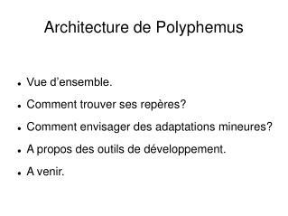 Architecture de Polyphemus