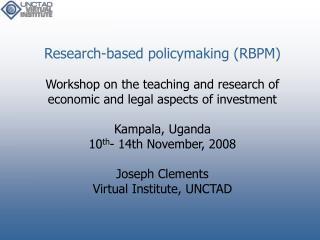A workshop on FDI and IIAs