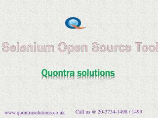 Selenium open source tools