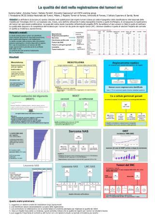 La qualità dei dati nella registrazione dei tumori rari