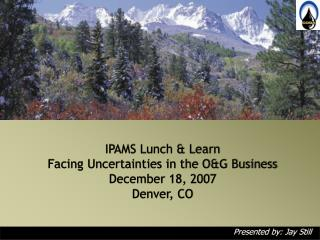 IPAMS Lunch & Learn Facing Uncertainties in the O&G Business  December 18, 2007 Denver, CO