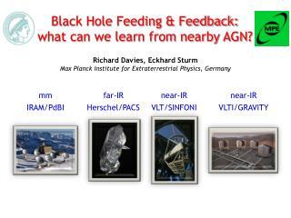 Richard Davies, Eckhard Sturm Max Planck Institute for Extraterrestrial Physics, Germany