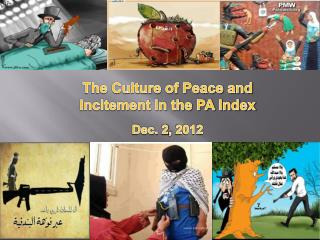 The Culture of Peace and Incitement in the PA Index Dec. 2, 2012