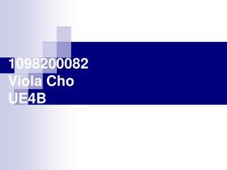 1098200082 Viola Cho UE4B
