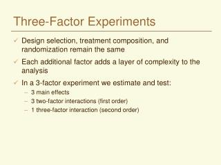 Three-Factor Experiments