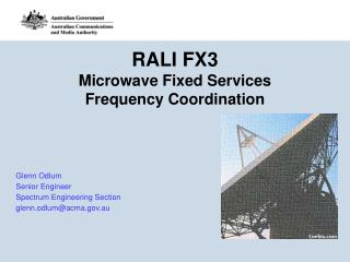 RALI FX3 Microwave Fixed Services Frequency Coordination