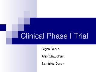 Clinical PhaseI Trial