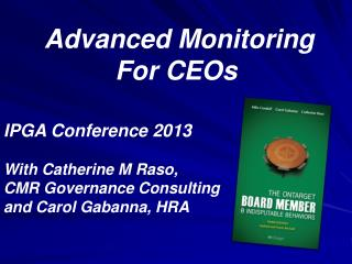 Advanced Monitoring For CEOs