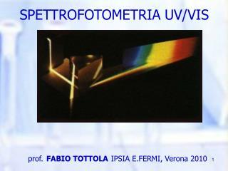 SPETTROFOTOMETRIA UV/VIS