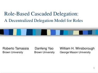 Role-Based Cascaded Delegation: A Decentralized Delegation Model for Roles