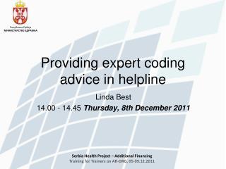 Providing expert coding advice in helpline