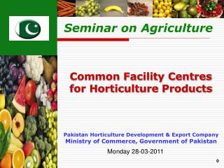 Pakistan Horticulture Development  Export Company  Ministry of Commerce, Government of Pakistan