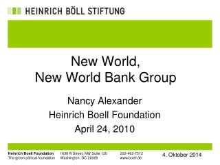 New World,  New World Bank Group