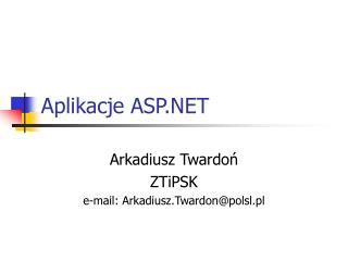 Aplikacje ASP.NET