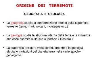 GEOGRAFIA  E  GEOLOGIA