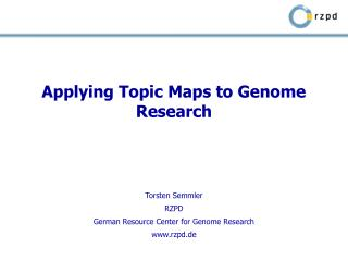 Applying Topic Maps to Genome Research