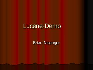Lucene-Demo