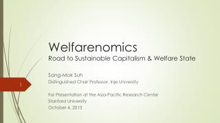 Welfarenomics  Road to Sustainable Capitalism & Welfare State