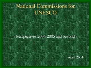 National Commissions for UNESCO