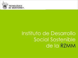 Instituto de Desarrollo Social Sostenible  de la  RZMM