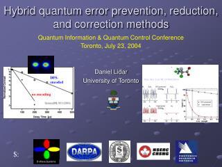 Hybrid quantum error prevention, reduction, and correction methods